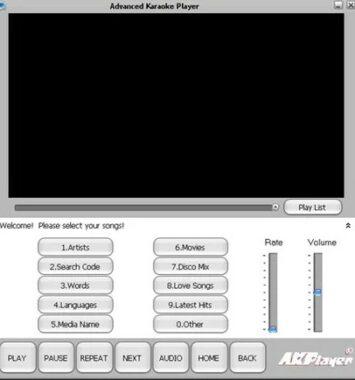 Aplikasi Advanced Karaoke Player