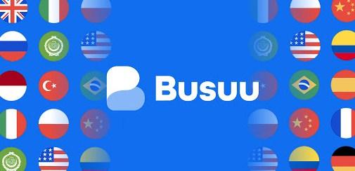 Aplikasi Learn to speak English with busuu