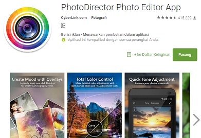 Aplikasi PhotoDirector Photo Editor