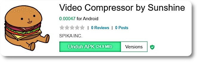 Aplikasi Video Compressor by Sunshine