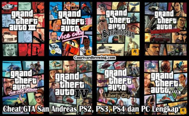 Cheat GTA San Andreas PS2, PS3, PS4 dan PC Lengkap 2021