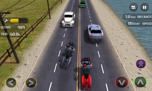 Game Balap Motor Race the Traffic Moto
