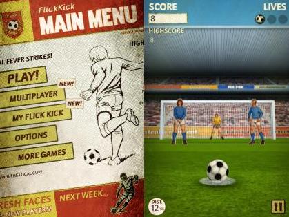 Game Flick Kick Football Kickoff