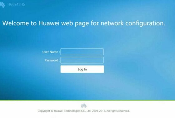Login Wifi Huwawei