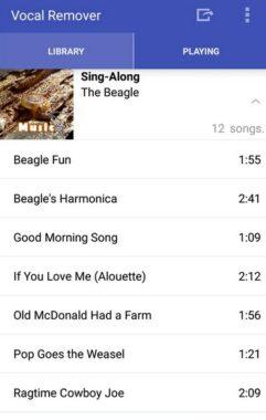 Membuka Aplikasi Vocal Remover For Karaoke yang sudah Di Downlod