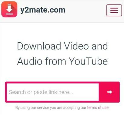 Menggunakan y2mate.com