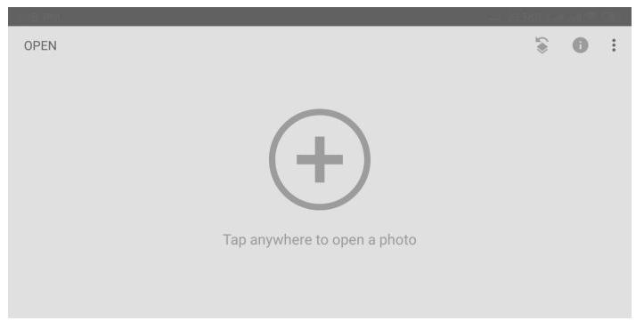 Buka aplikasi Snapseed