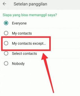 Memfilter Panggilan WhatsApp