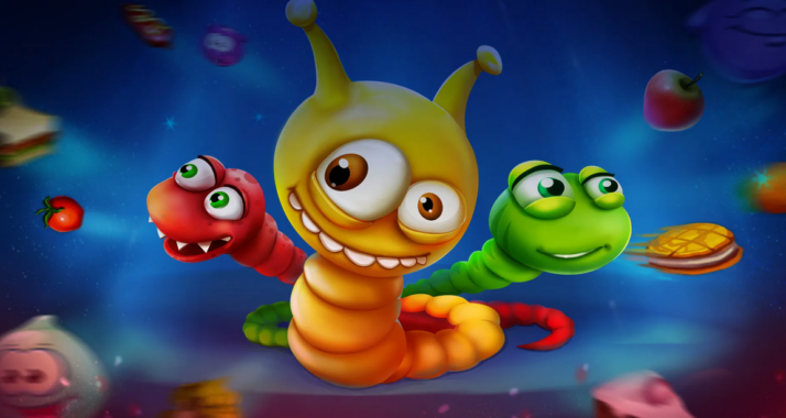 Gameplay Worms Zone Mod Apk
