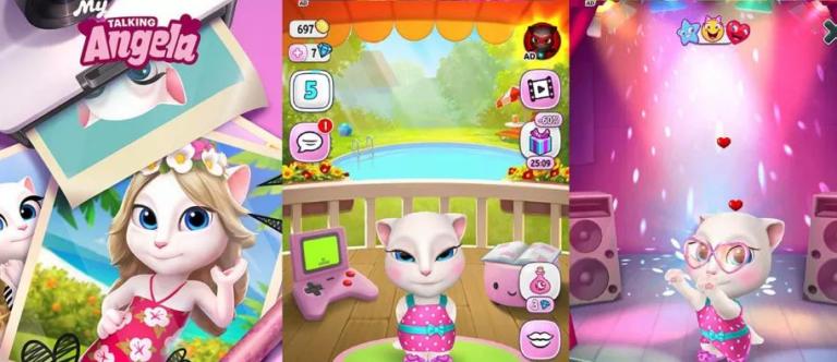 Bermain Game Arcade Dengan Angela